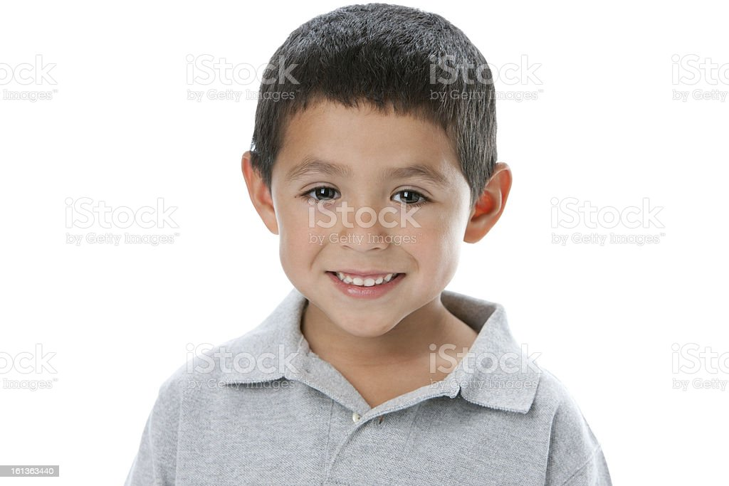 Portrait of a smiling Hispanic boy stock photo