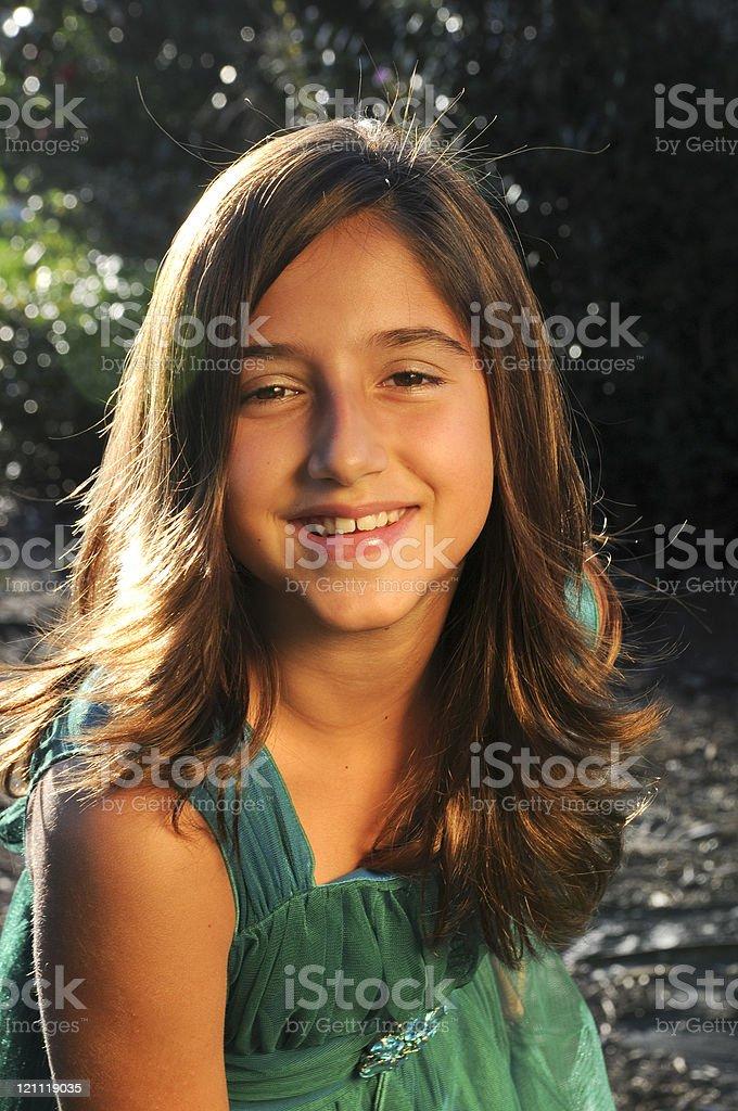 Beautiful Happy Smiling Teen Girl Portrait Stock Image