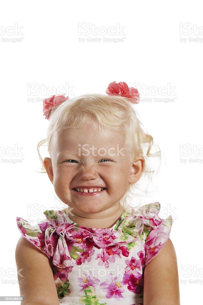 Porträt von einem lächelnden kleinen Blondes Mädchen – Foto