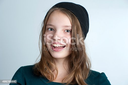 istock Portrait of a smiling little girl. 499288440