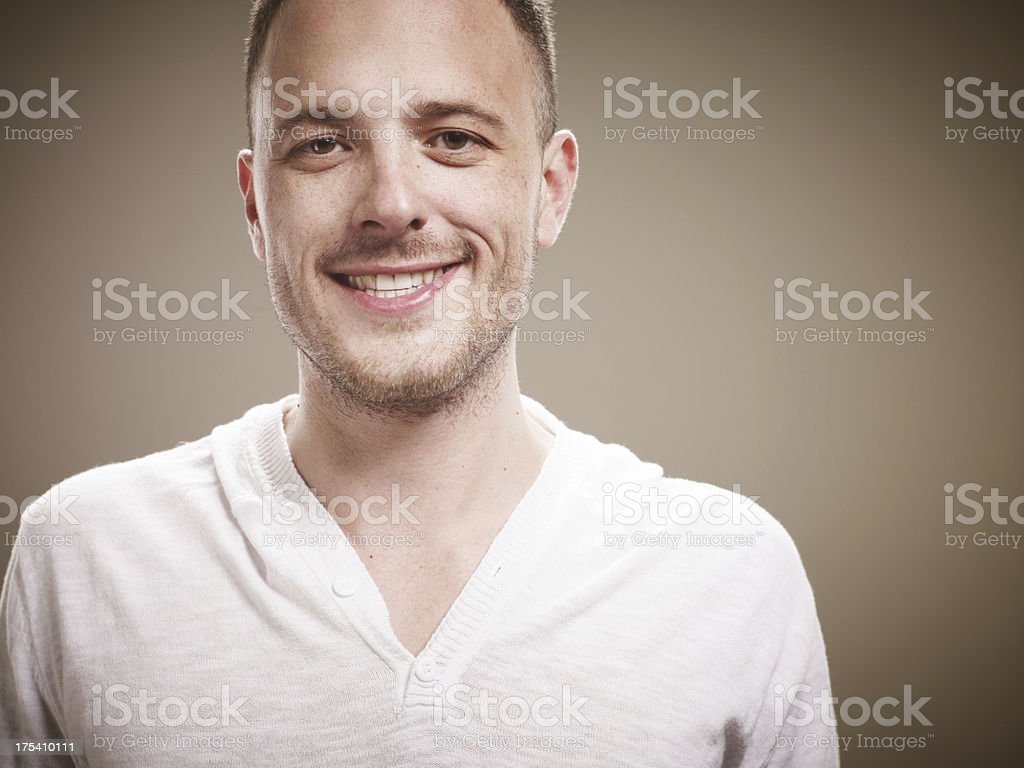 portrait of a smiling male royalty-free stock photo