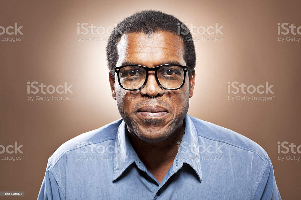 Portrait of a smiling man royalty-free stock photo