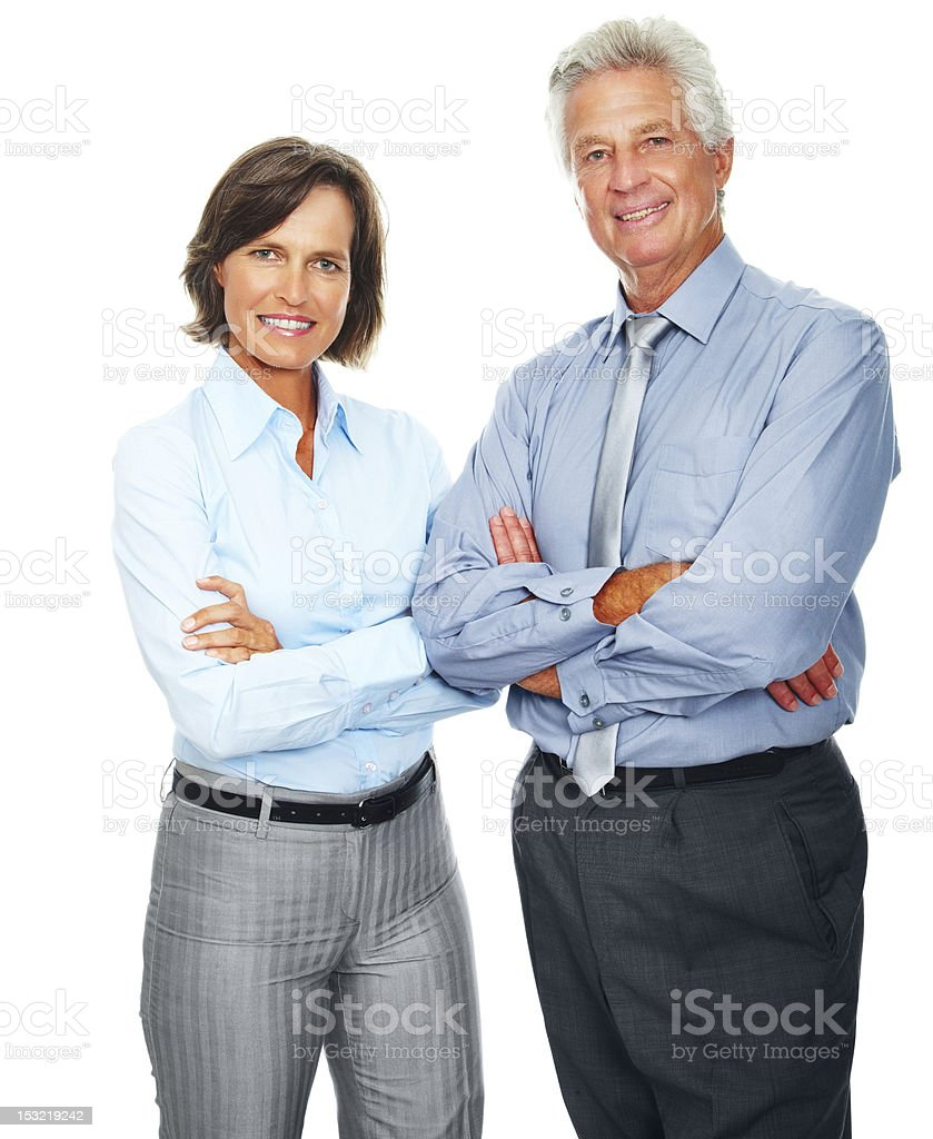Portrait of a smiling mature business colleagues royalty-free stock photo