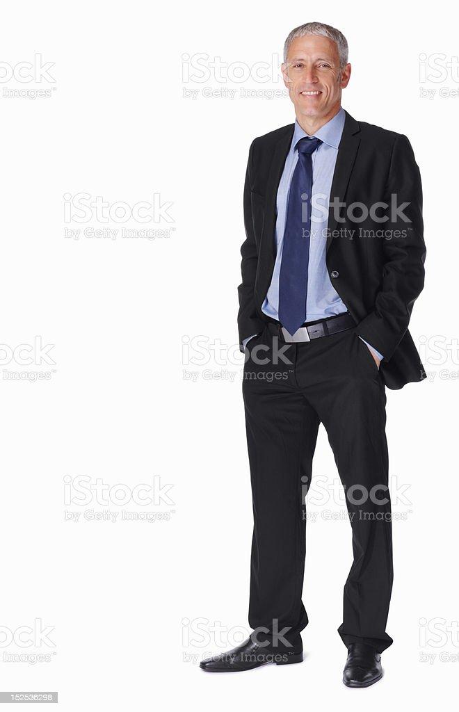 Portrait of a smiling mature businessman stock photo