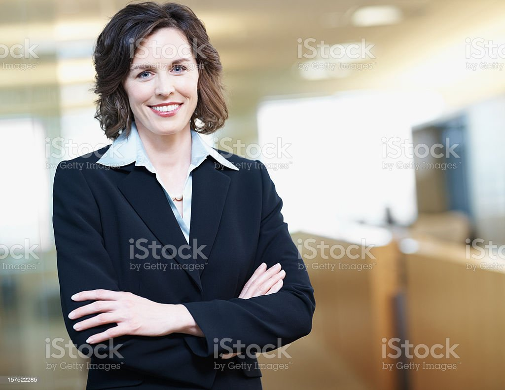 Portrait of a smiling mid adult businesswoman royalty-free stock photo