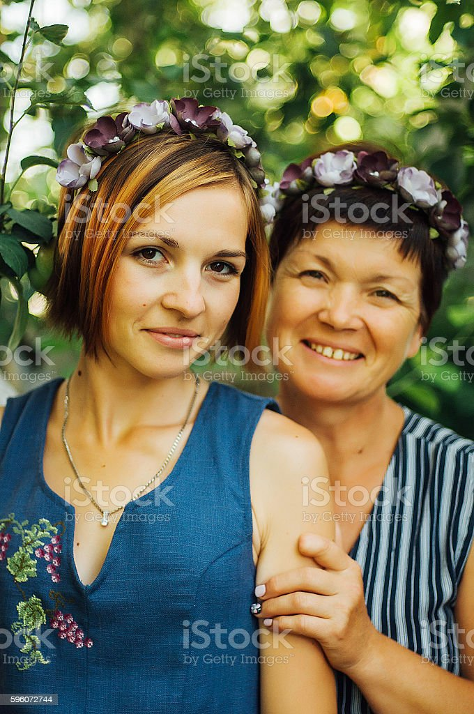 Portrait of a smiling mother and daughter royalty-free stock photo