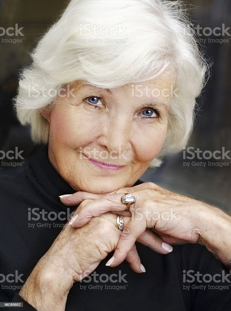 Ritratto di donna Senior foto stock royalty-free