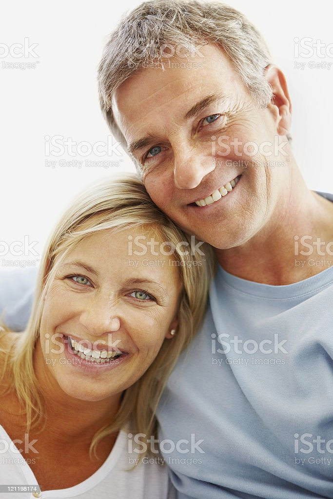 Portrait of a smiling romantic couple royalty-free stock photo