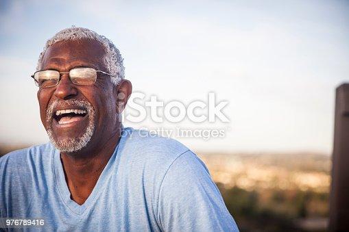 istock Portrait of a Smiling Senior Black Man 976789416