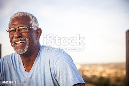 istock Portrait of a Smiling Senior Black Man 976789418