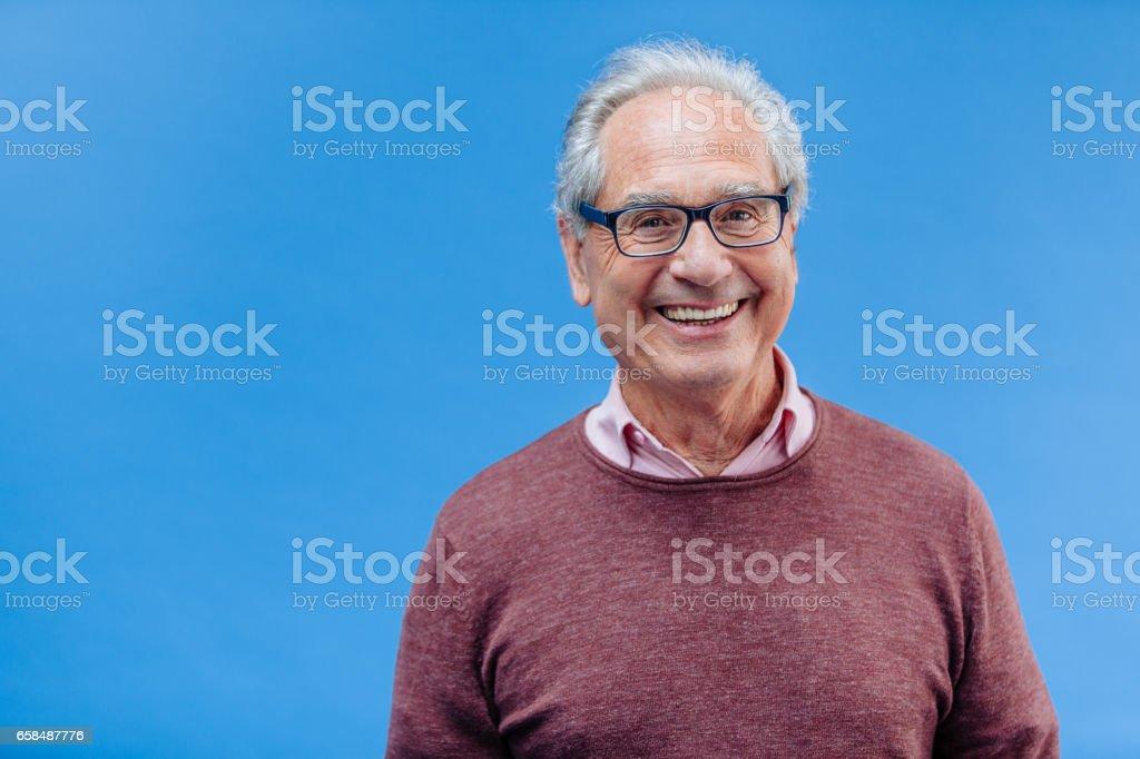 Portrait of a Smiling Senior Business Man stock photo