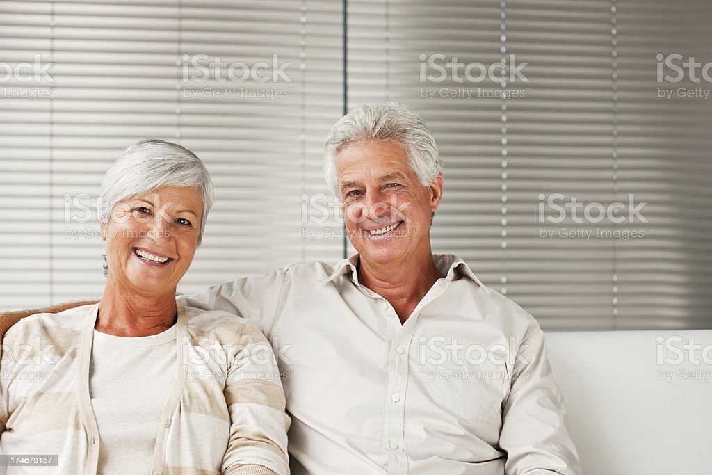 Portrait of a smiling senior couple royalty-free stock photo