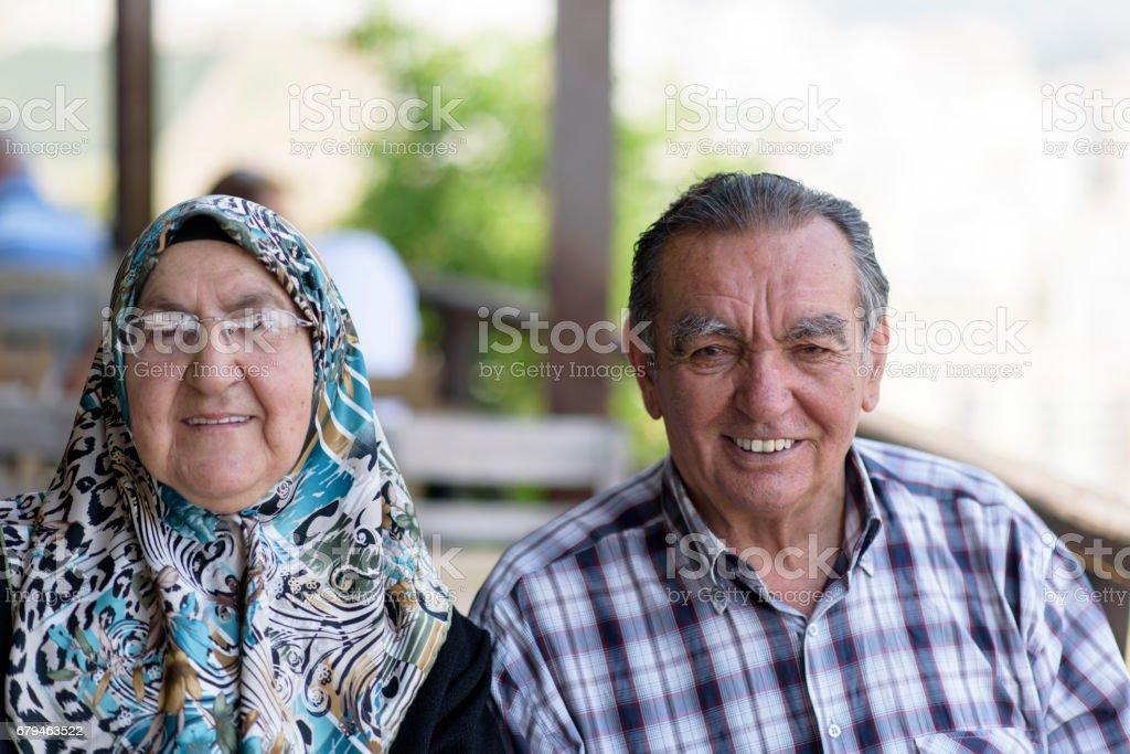 Portrait of a Smiling Senior Couple stock photo