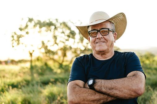 Portrait of a smiling senior farmer