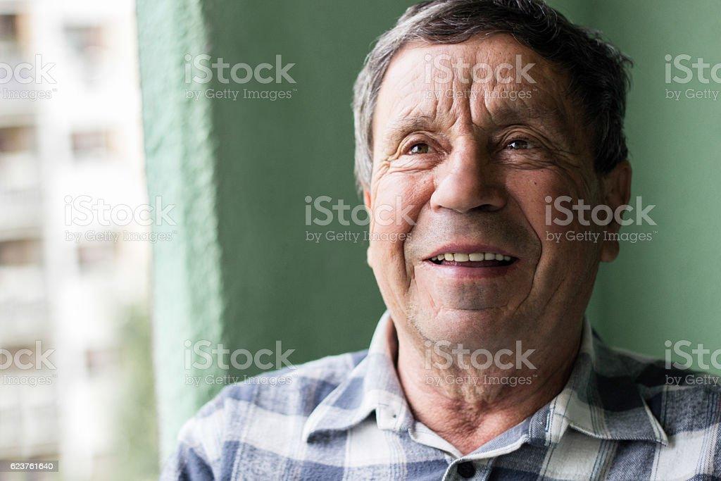Portrait of a smiling senior man royalty-free stock photo