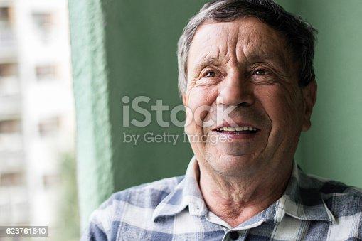 istock Portrait of a smiling senior man 623761640