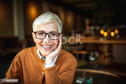 1044149594 istock photo Portrait of a smiling senior woman 1149608353