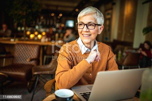 1044149594 istock photo Portrait of a smiling senior woman. 1149609932