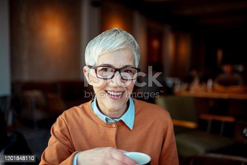 1044149594 istock photo Portrait of a smiling senior woman 1201848110