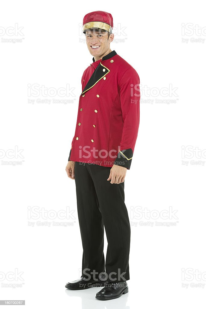 Portrait of a smiling valet royalty-free stock photo