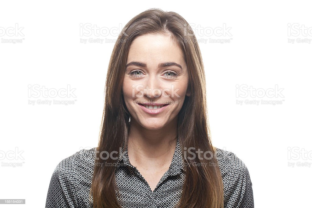 Portrait of a smiling woman royalty-free stock photo