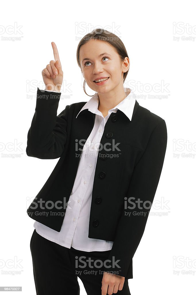 Portrait of a smiling young business woman royalty-free stock photo