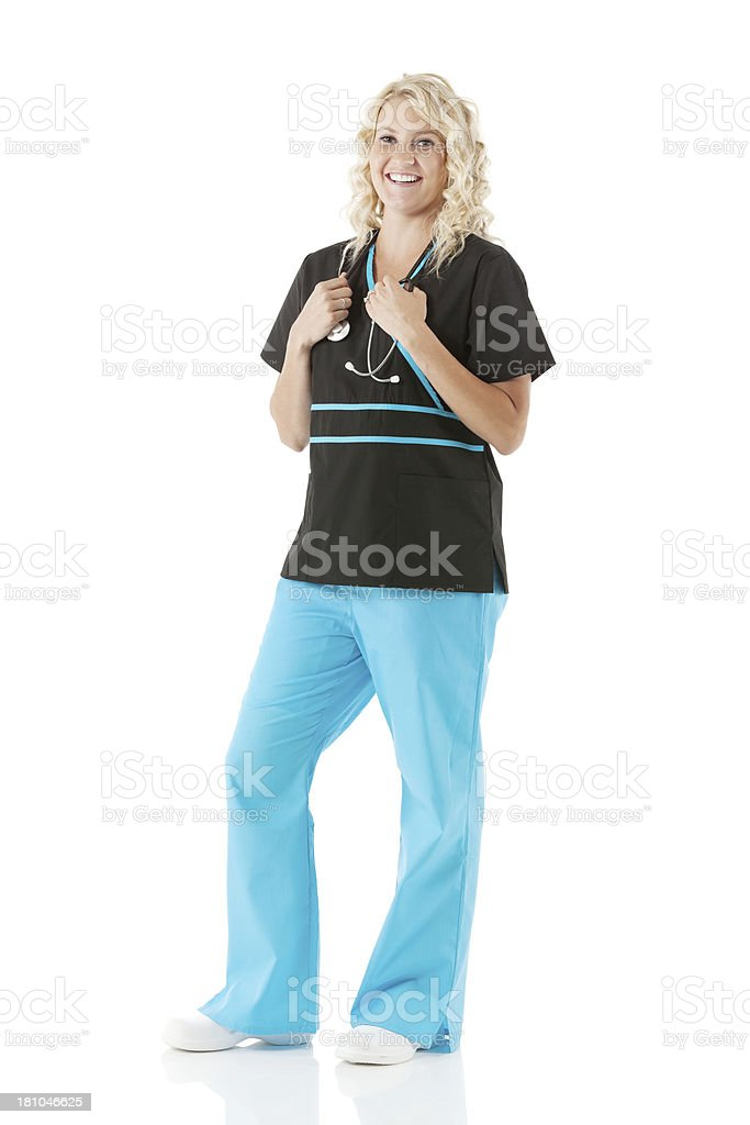 Portrait of a smiling young female nurse royalty-free stock photo