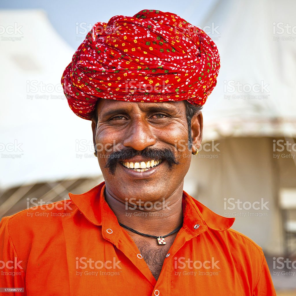 Portrait of a smiling young Indian man royalty-free stock photo