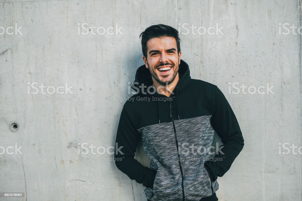 Portrait of a sportsman - foto stock