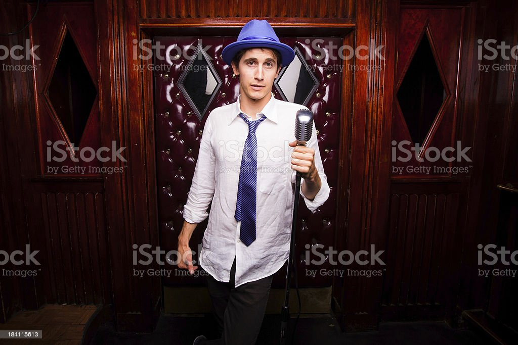 Portrait of a Stand-Up Comedian stock photo