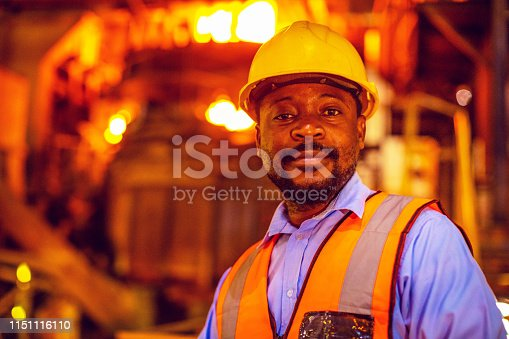 Africa, Industry, Business, Steel Factory, People - Portrait of a Factory Worker