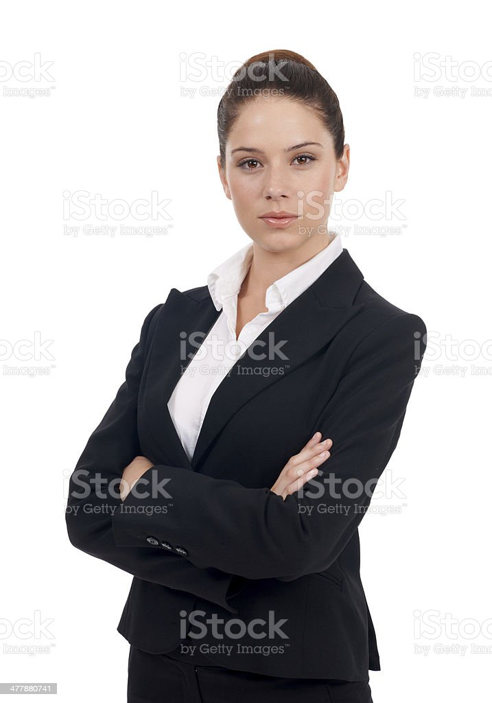 Portrait of a strong business professional royalty-free stock photo