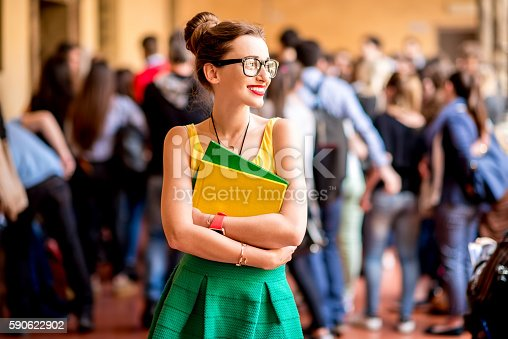 istock Portrait of a student at the old university 590622902