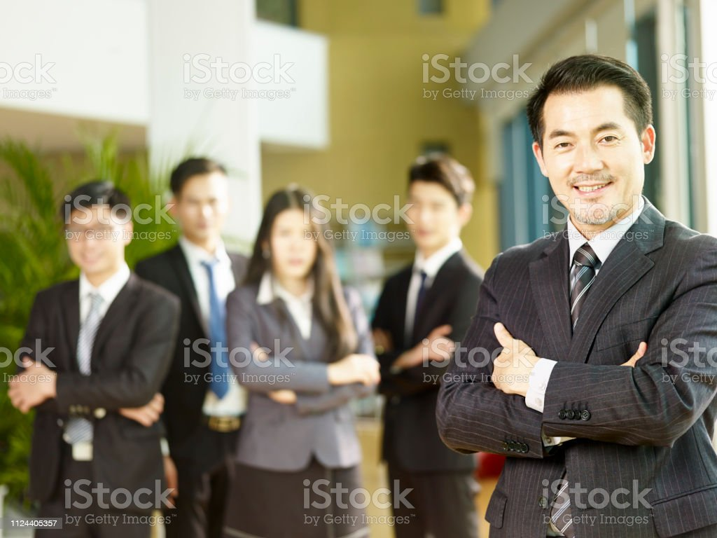 portrait of a successful asian businessman stock photo