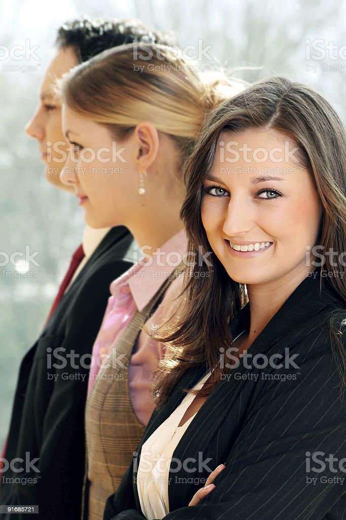 portrait of a successful business team royalty-free stock photo