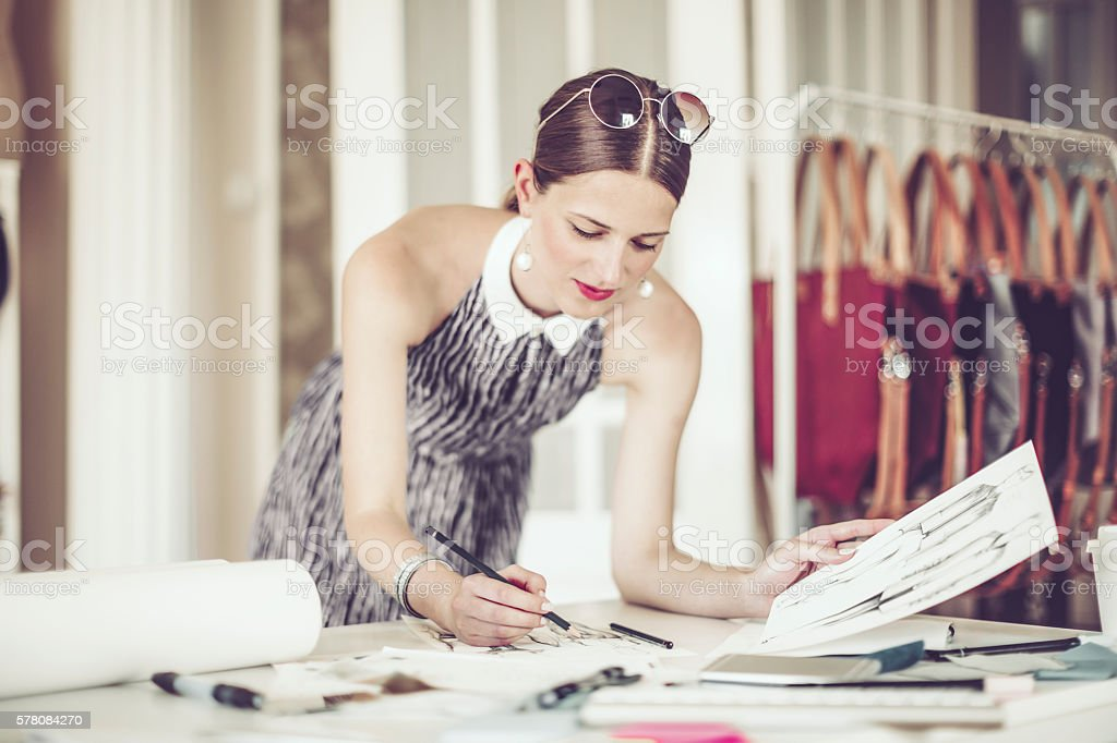 Portrait of a successful designer stock photo