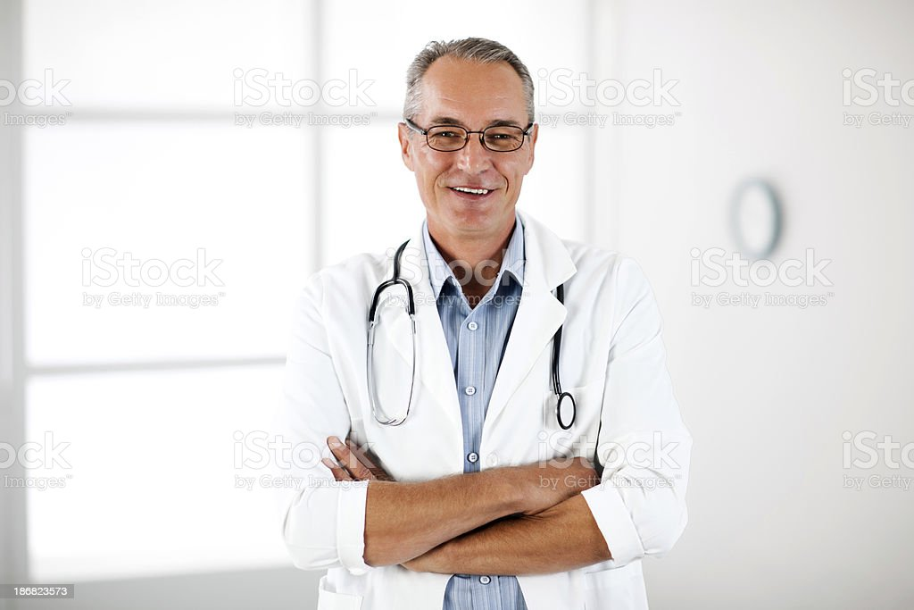 Portrait of a successful doctor royalty-free stock photo