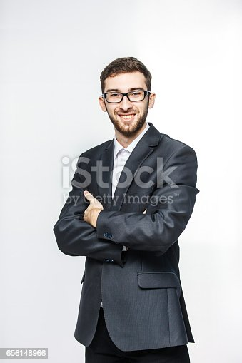 istock portrait of a successful lawyer in a business suit on a white background 656148966