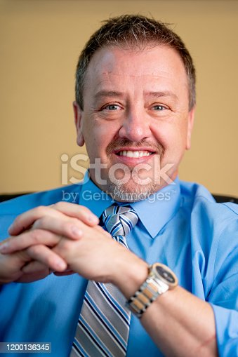 1040964880 istock photo Portrait of a Successful Middle-Aged Man in Business Attire 1200136345