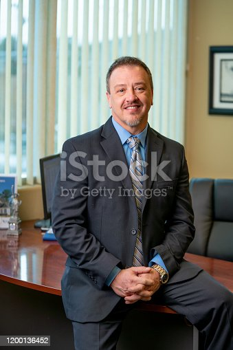 1040964880 istock photo Portrait of a Successful Middle-Aged Man in Business Attire 1200136452