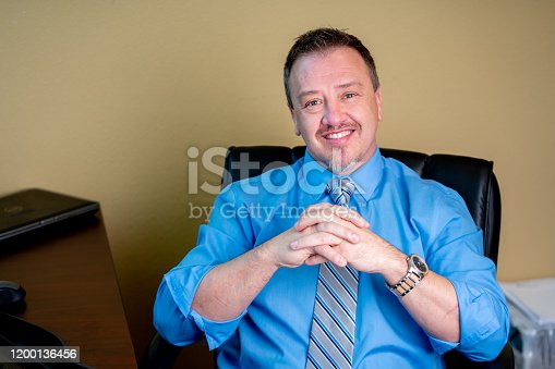 1040964880 istock photo Portrait of a Successful Middle-Aged Man in Business Attire 1200136456