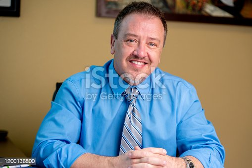 1040964880 istock photo Portrait of a Successful Middle-Aged Man in Business Attire 1200136800