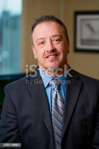 1040964880 istock photo Portrait of a Successful Middle-Aged Man in Business Attire 1200136801