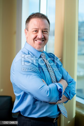 1040964880 istock photo Portrait of a Successful Middle-Aged Man in Business Attire 1200136823