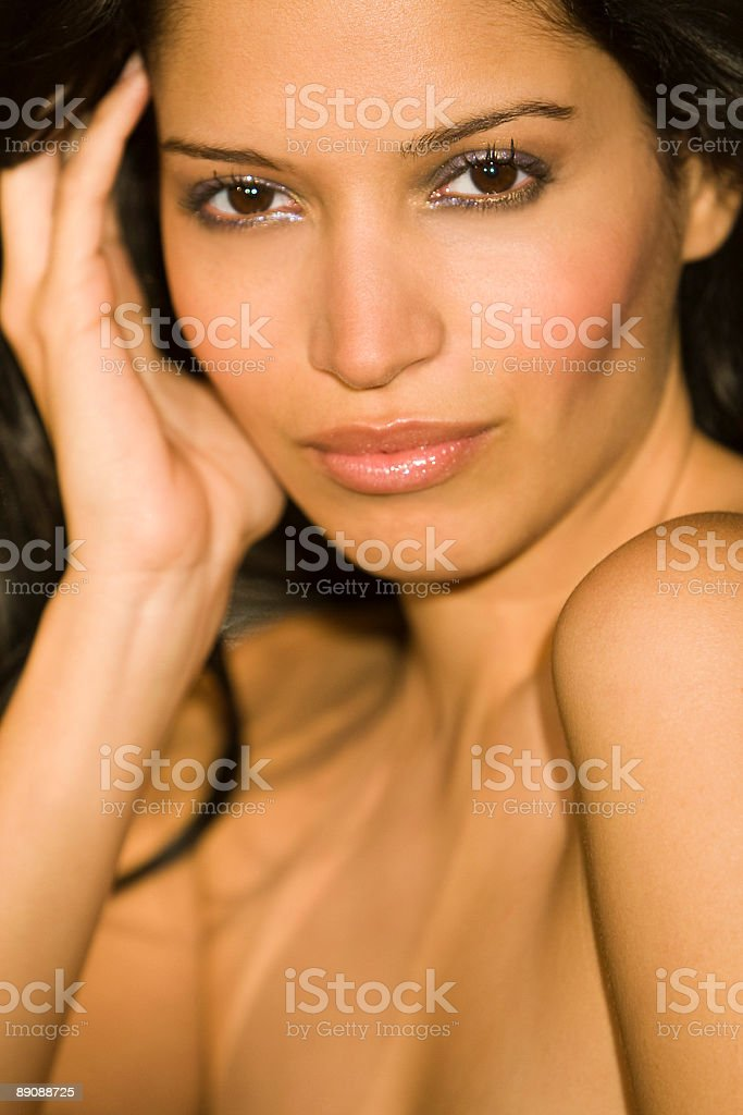 Portrait of A Sultry Beautiful Hispanic Latina Woman royalty-free stock photo