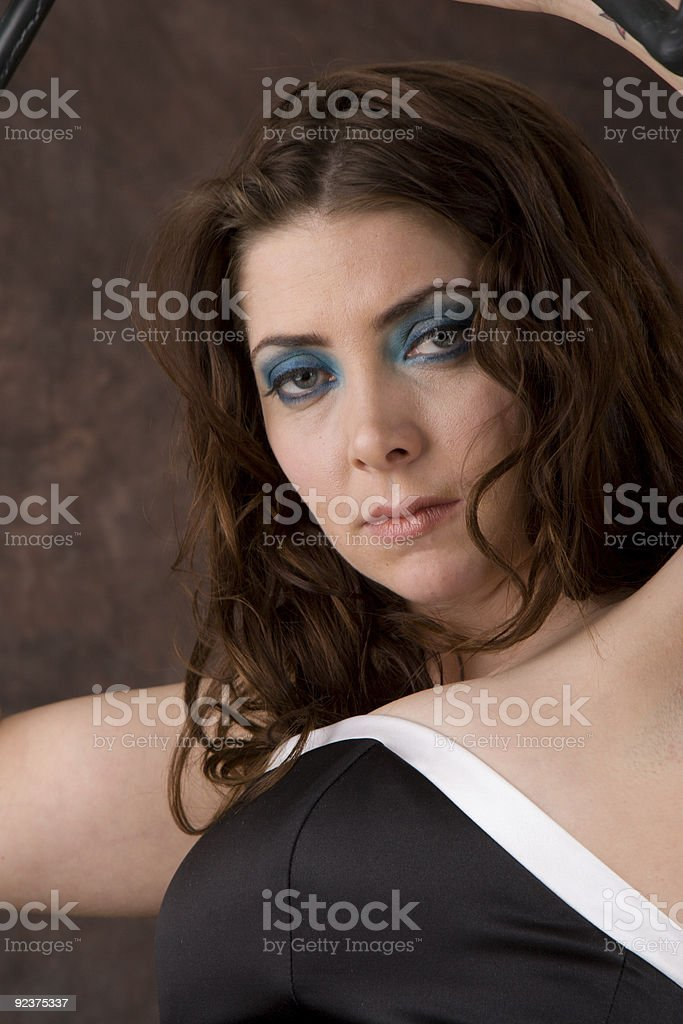 Portrait of a Sultry Woman royalty-free stock photo