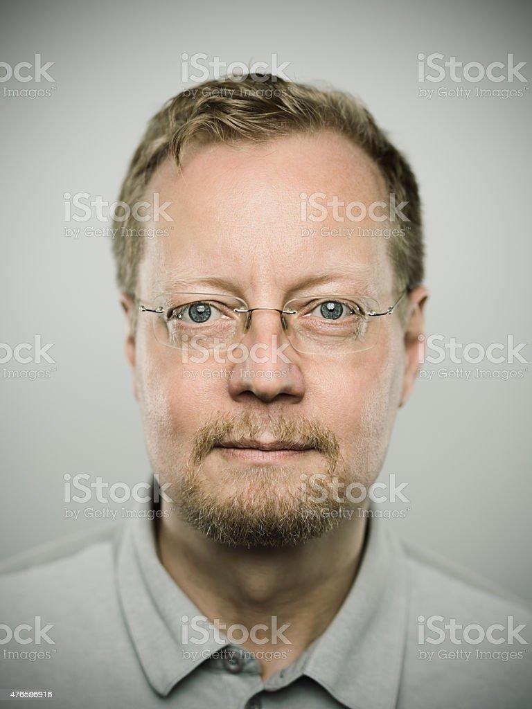Portrait of a swedish real man stock photo