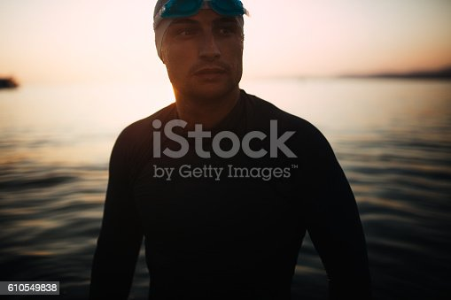 610548820 istock photo Portrait of a swimmer 610549838