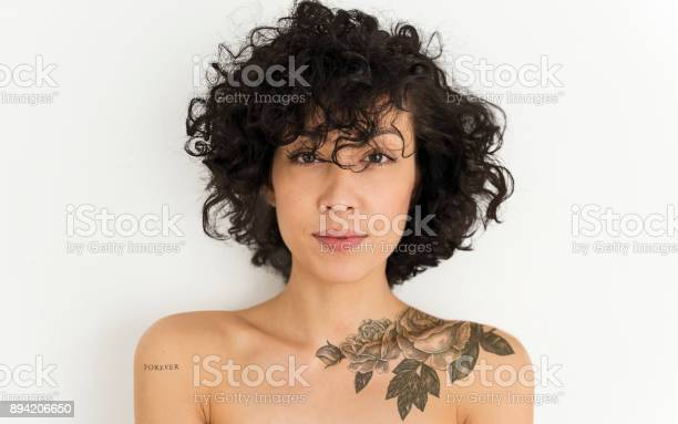 Portrait of a tattooed woman