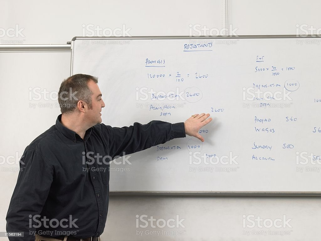 Portrait of a teacher royalty-free stock photo